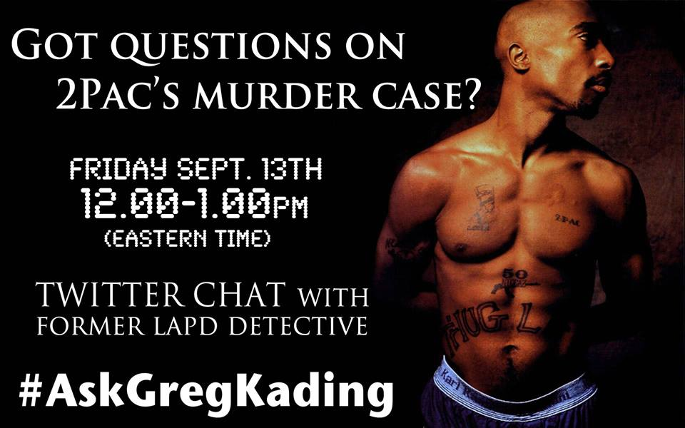 Former LAPD detective Greg Kading will chat with Tupac's fans on rapper's 17th anniversary
