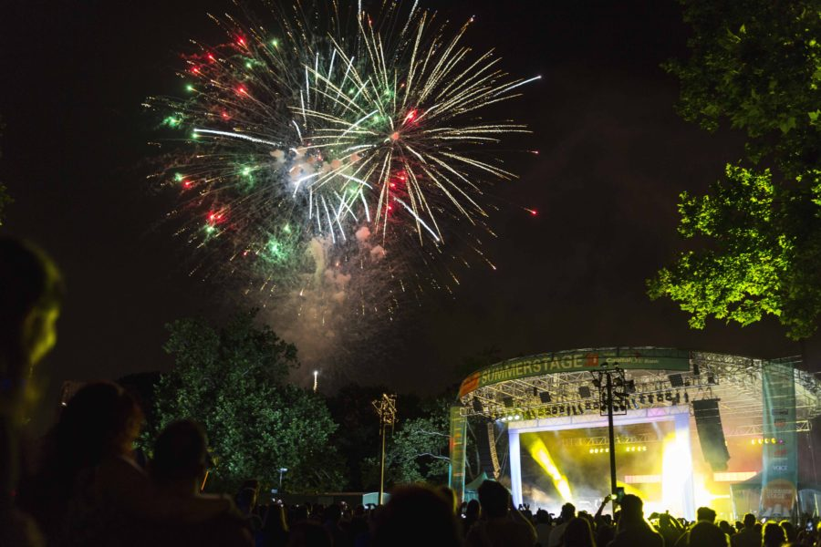 SummerStage - Central Park - fireworks - photo by Durst Breneiser